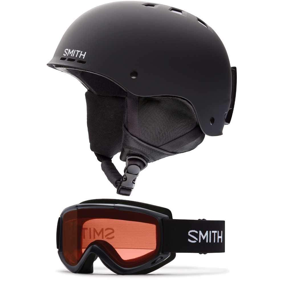 099c510449 Smith Optics Black Holt Snow Ski Helmet   Cascade Snow Ski Goggle ( Choose  Your Size