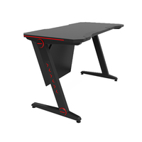 latest design e-sport modern computer game table custom gaming desk with led light