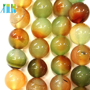 nature gemstone green amber natural ball shape stone beads wholesale