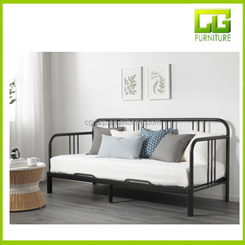 Moderne Metall Daybed, Metall Sofa Bett Gast Bett Mit Trundle