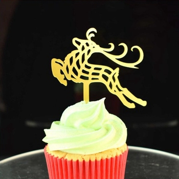 Christmas Cake Toppers.Fabulous Reindeer Acrylic Cupcake Topper For Christmas Decoration Buy Plastic Christmas Cake Toppers Reindeer Cupcake Topper Acrylic Cupcake Topper
