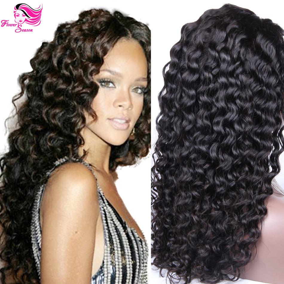 New Best Virgin Brazilian Human Curly Lace Front Wigs Full