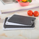 set of 2 anti-slip granite effect/marble plastic chopping board/4 corner pp eco-friendly cutting board