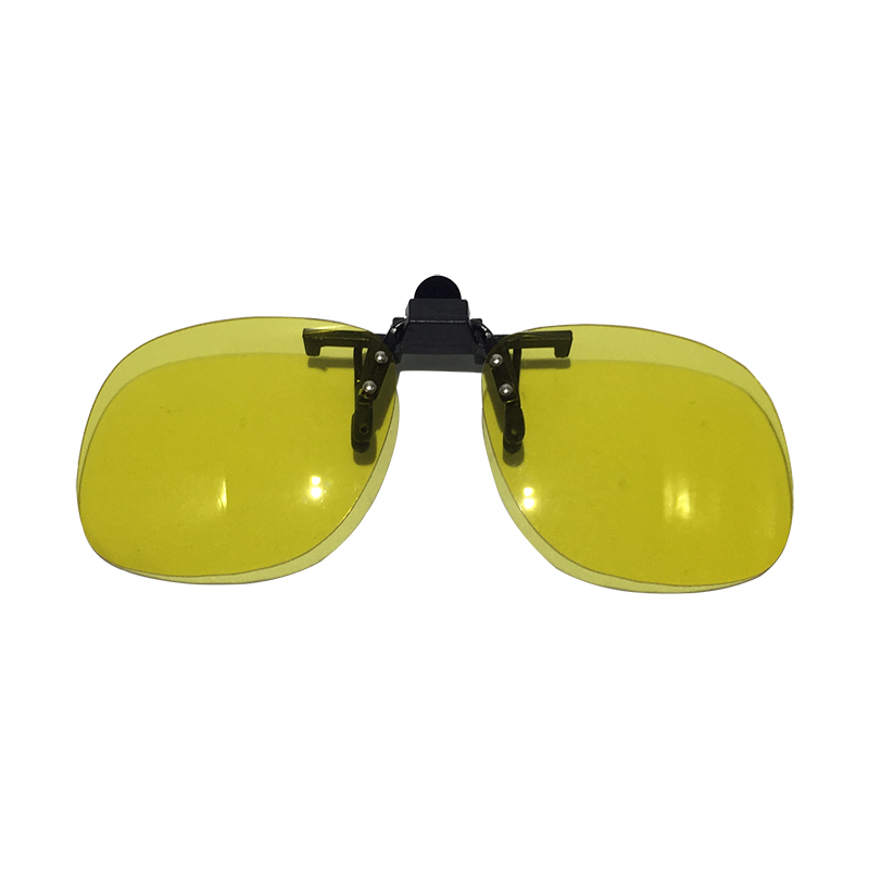 Polarized Driving Clip-on Flip-up UV400 Day /& Night Vision Lens Sunglasses Glass