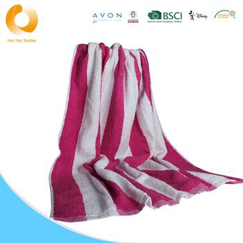 Custom Cotton Yarn Dyed Stripe Beach Towels Swimming Pool Towels ...