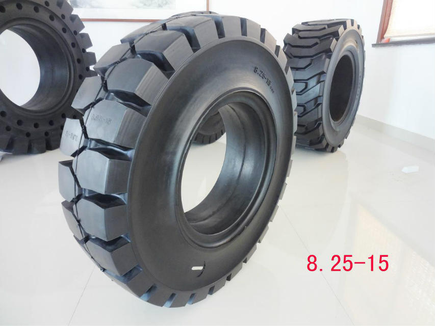 forklift tire solid 7.00-12 6.50-10 5.00-8 Super Strong Large Block