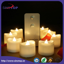BEST FLAMELESS CANDLES WITH TIMER REMOTE CONTROL / Safety Flameless Rechargeable Electric Tea Light LED Candle Supplier