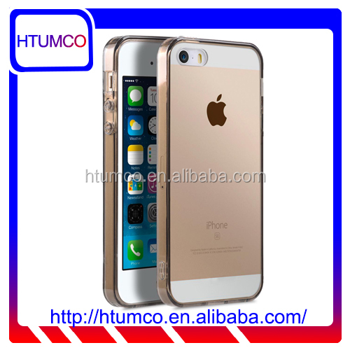 Popular Transparent Black TPU case for Apple iPhone 5s / 5 / SE