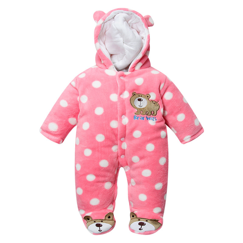 d26933666cd5 Get Quotations · Super Warm Newborn Baby Clothing Winter Babies Girls Boys  Rompers Infant Toddler Fleece Cotton Fashion Hooded