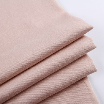 Solid color air jet loom rayon spandex plain dyed Japan wholesale tackle twill fabric
