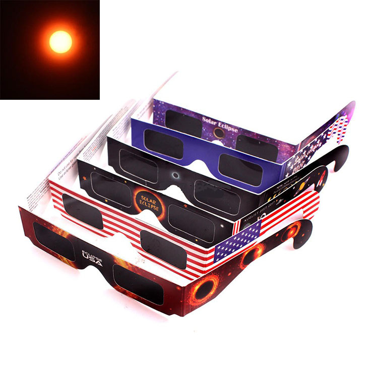Wholesale Viewing Paper Frame Total Observation Solar Eclipse Glasses