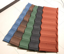 Traditional chinese house building materials composite color stone coated metal roof tiles