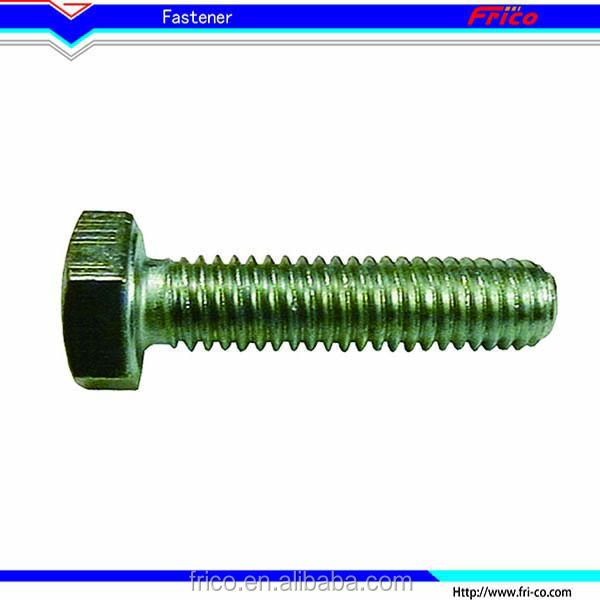 Professional stainless steel DIN 933 heavy hex bolt low head