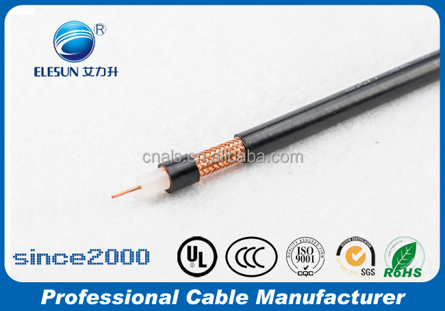 SYV-75-3 RG59 75 ohm solid PE insulated RF coaxial cable
