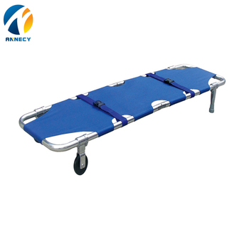 AC-FS002 emergency rescue products Aluminium alloy portable army cot folding stretcher for camping
