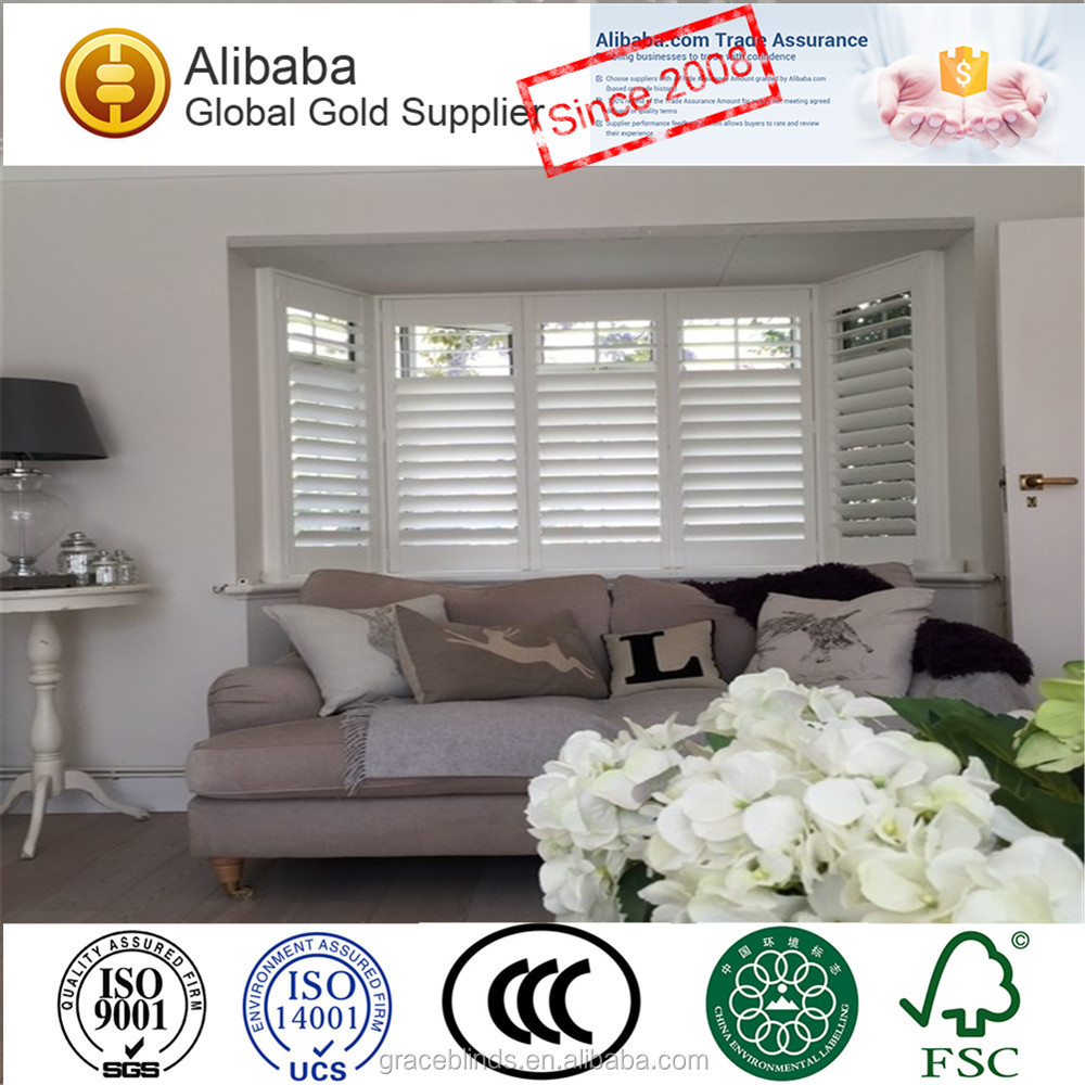 2017 New style with High Quality wooden plantation shutters
