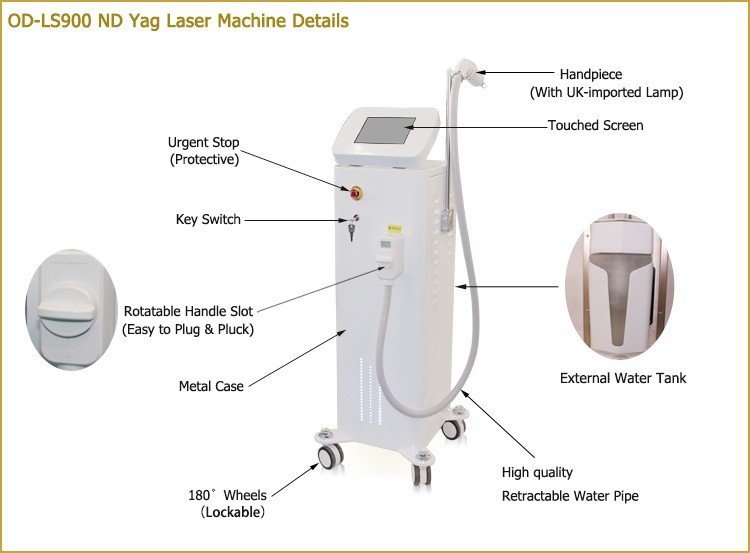 Factory direct q-swith nd yag laser q-switched vertical laser machine