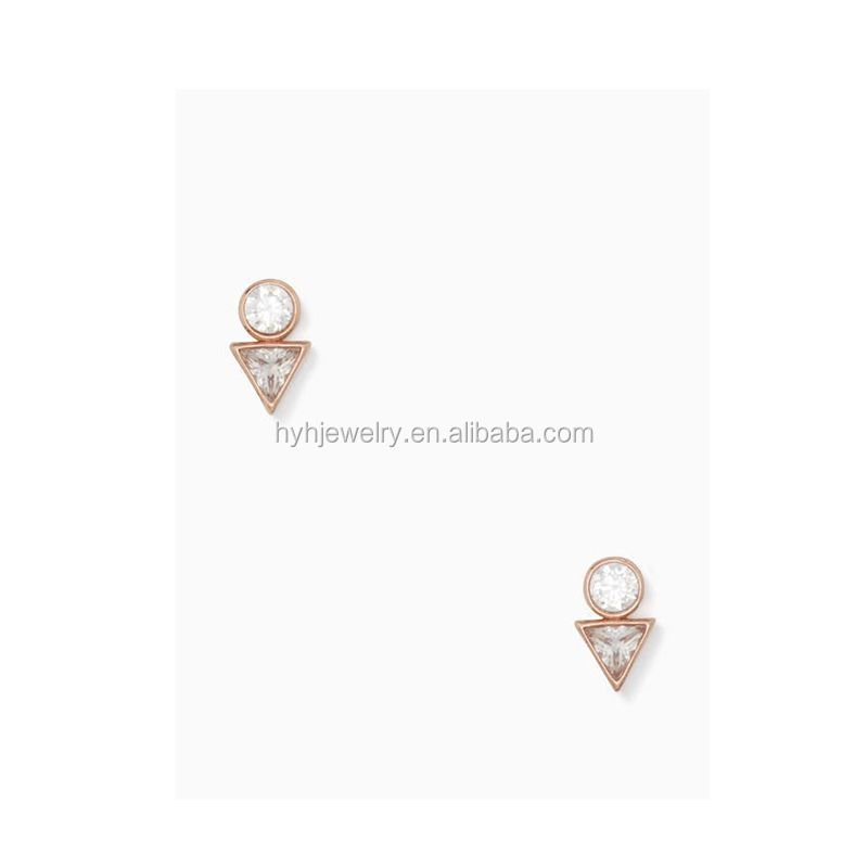 Wholesale Gold Earring Wire,White Cz Zircon Simple Hook Earring ...