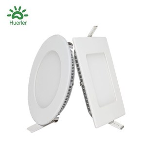 3W To 25W China Flat Square Round Ultra Slim Ceiling Led Panel Light Factory 6W 12W 18W Led Panel Lamp Price