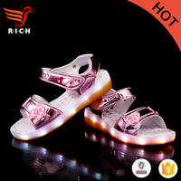 HFR-TS-51-9 2017 online luminous genuine leather baby shoes