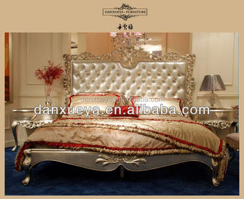 Princess Style Elegant Romatic Beds , Classic Home Furniture , Indian  Wedding Sex Bed Sets