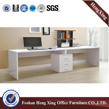 White Home Office Furniture Long Size 2 Seat Computer Table (HX 5N086)