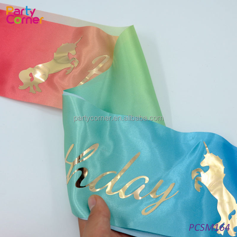 Customized Happy Birthday Girl Sash Unicorn Birthday Sash - Buy Birthday  Sash,Birthday Girl Sash,Unicorn Sash Product on Alibaba com