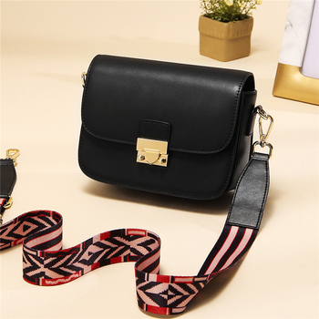Wide shoulder strap women's bag classy shoulder cooler bag small square crossbody shoulder bag