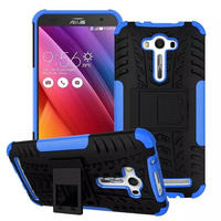 Blue Color Two In One Tire Lines Armor Cell phone Case for Asus Zenfone 2 Laser Phone