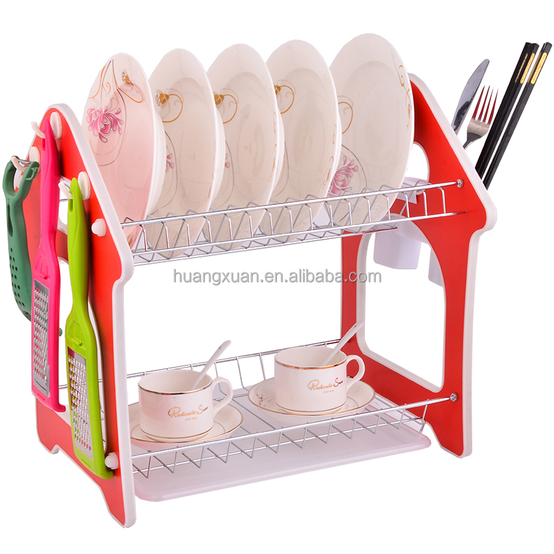 Popular Kitchen Sink Dish Rack Two Layer Plate Rack Buy Sink Dish Rack Plate Rack Dish Rack Two Layer Product On Alibaba Com