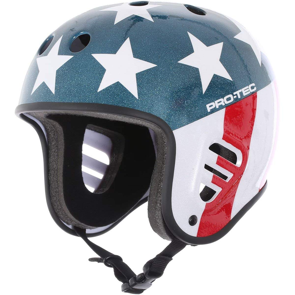 Protec Fullcut Red Metal Flake-xl Helmet