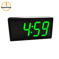 "GlobalTime 4"" x 4 Digit PoE Clock, Synchronized Clock System for Hospital"