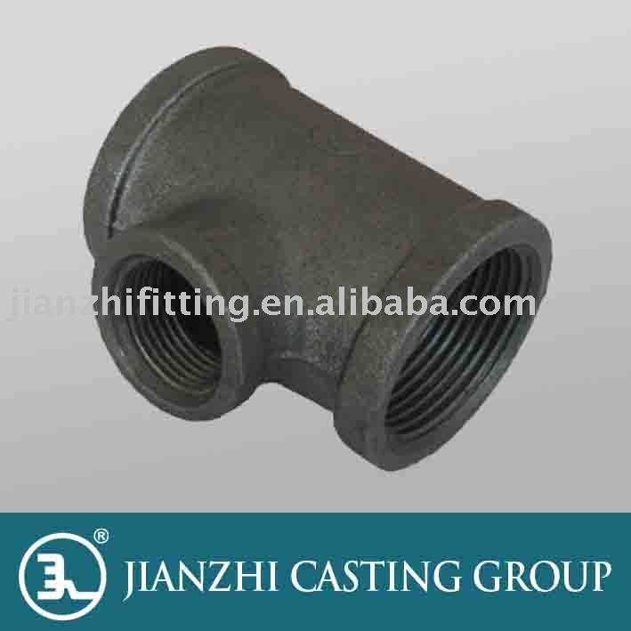 Black Threaded Iron Pipe Fitting-130R Tee/Din Standard