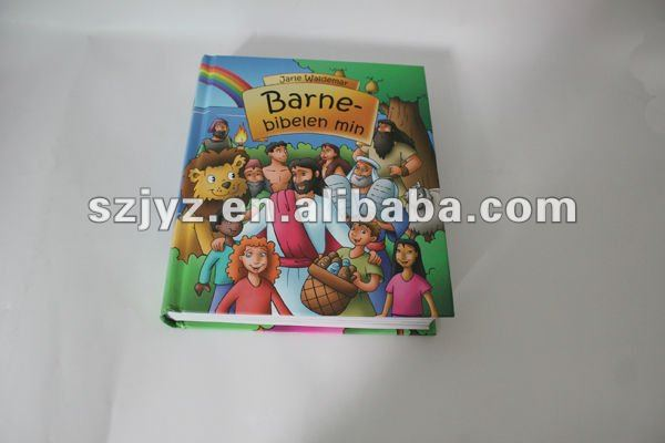 Laminated padded cover book/children story book printing