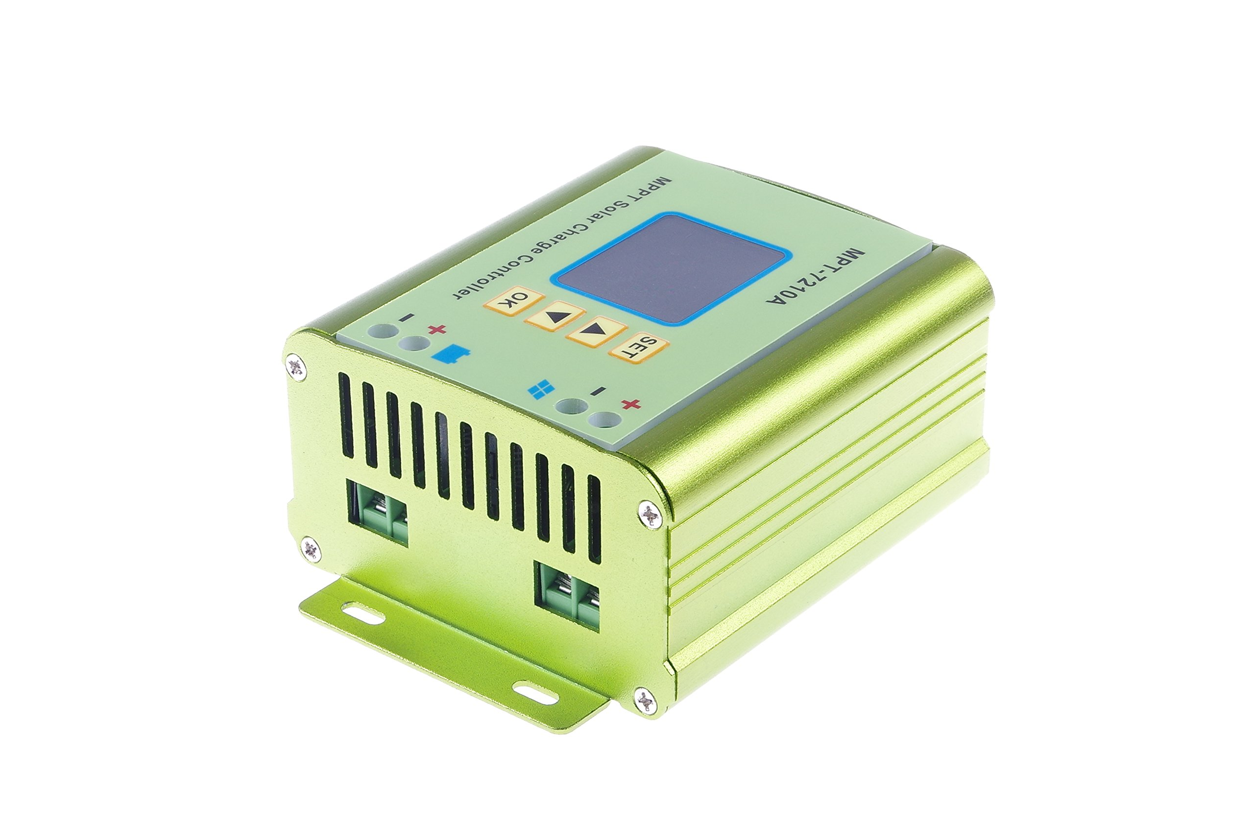 KNACRO MPPT Solar Charge Controller Regulator Charge Controller With Digital Display and Adjustable Suitable DC 12-60V Step Up TO DC 15-90V for 24V 36V 48V 72V (12-60V) 0-10A battery charging