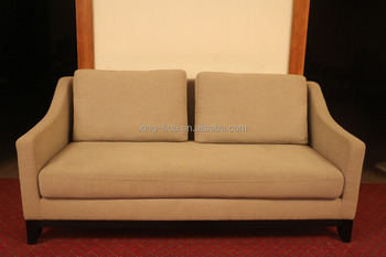 Modern Simple Design Wooden Leg Chesterfield Sofa With 2 Seat