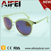 Fashionable round shape sun glasses with milk white pattern frame nice quality sunglasses