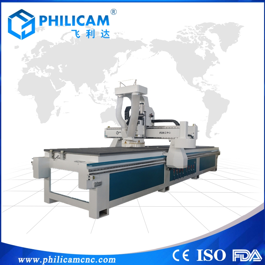 Philicam 1325 MDF board four spindle wood 3d router cnc