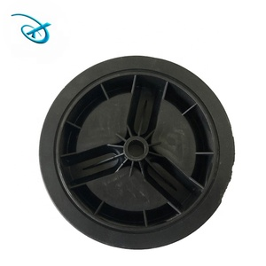 6 inch pvc wheels for trolley handle luggage and bassinet