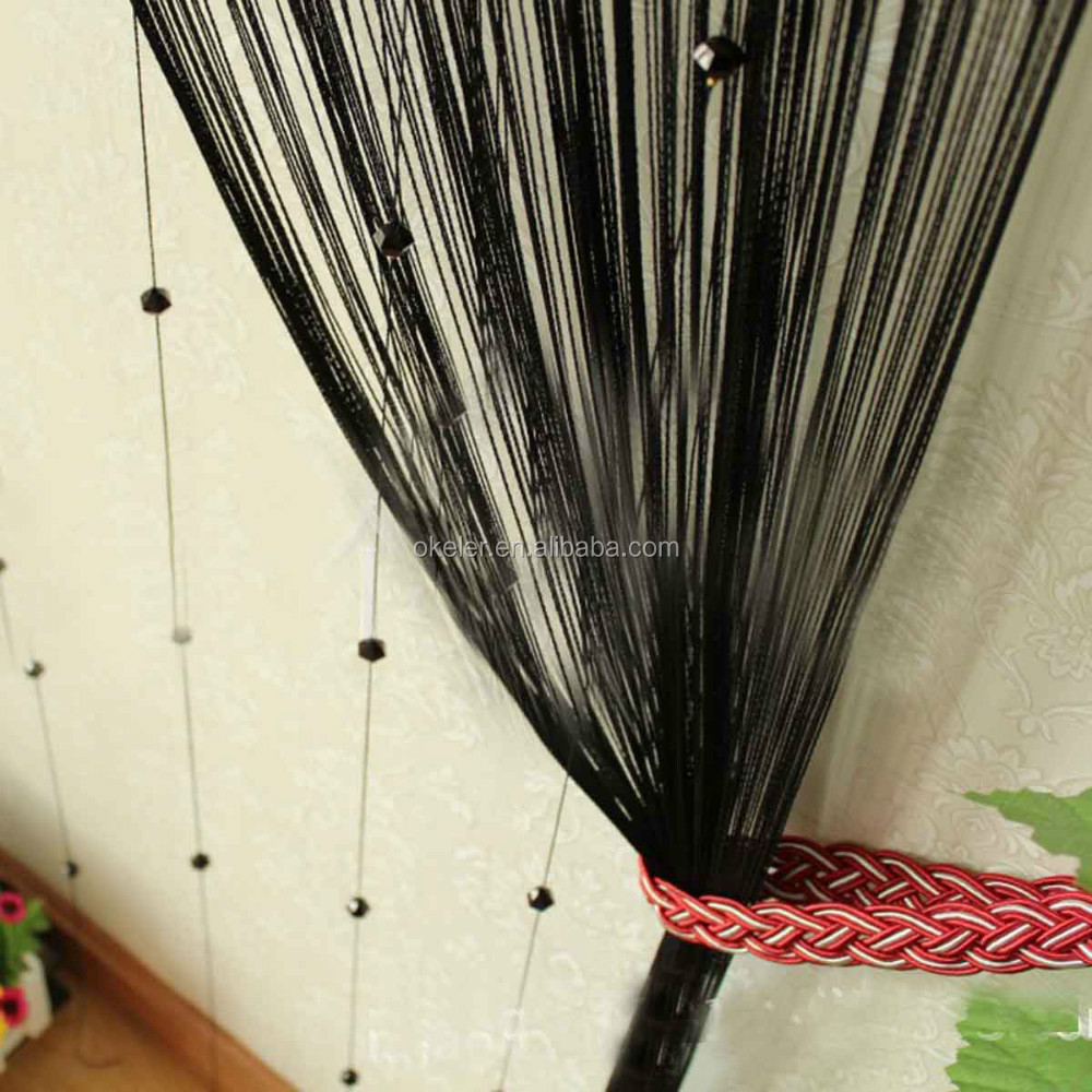 100 black door curtain tan rustic leaf color block custom p