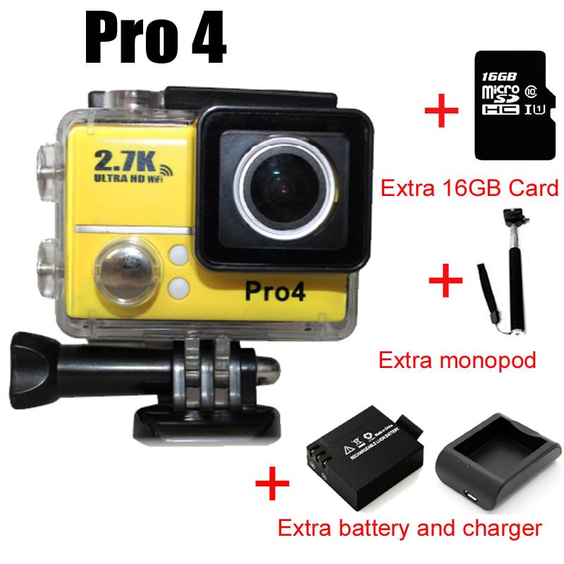 PRO4 2.7 К Ultra HD Wifi Спорт DV 170 Широкий 14MP Камера 2