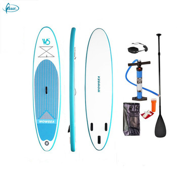 Fissot cheap portable PVC inflatable sup paddle board
