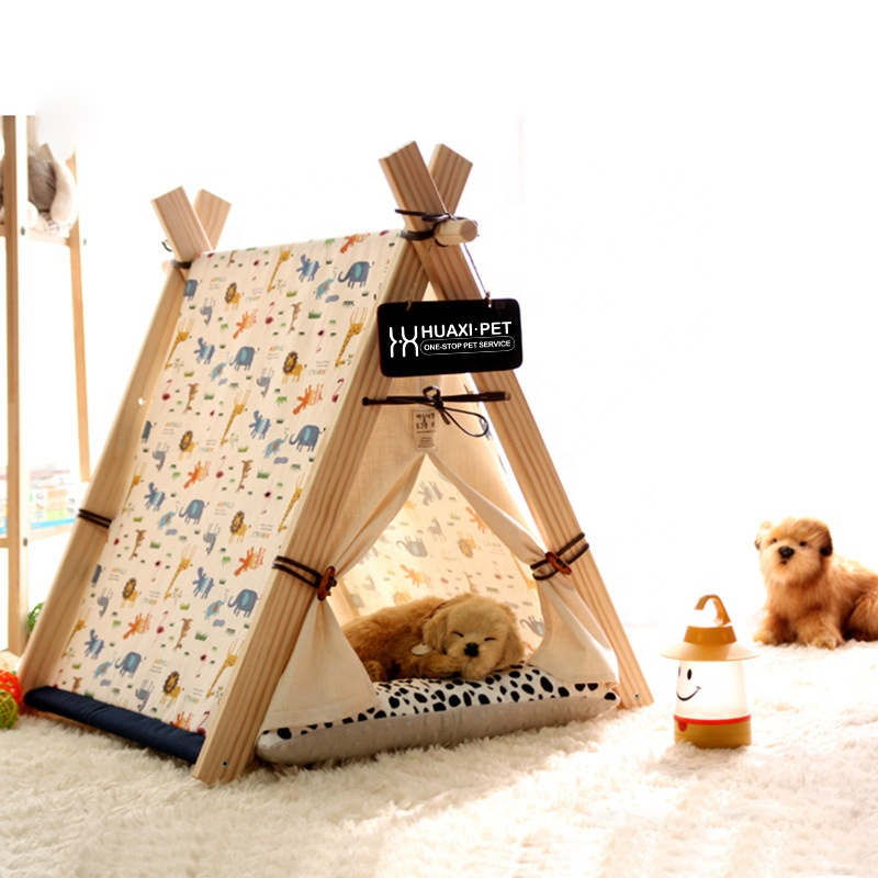 Luxe hond outdoor tent tipi kat bed huisdier teepee Huis china