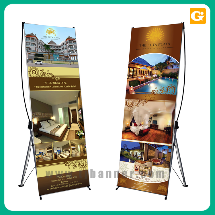 Custom logo high quality bamboo x banner with good