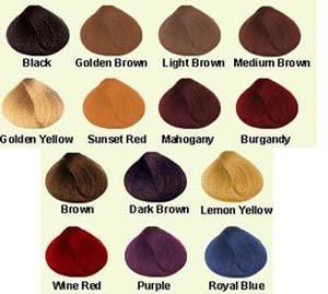 Henna natural para el pelo colores