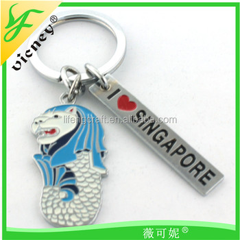 chinese supplier metal merlion singapore souvenir keychain with wedding  favors 2cdbfd9492c2