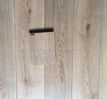 Wire Brushed Solid White Oak Wide Timber Flooring 150x18mm Common Grade