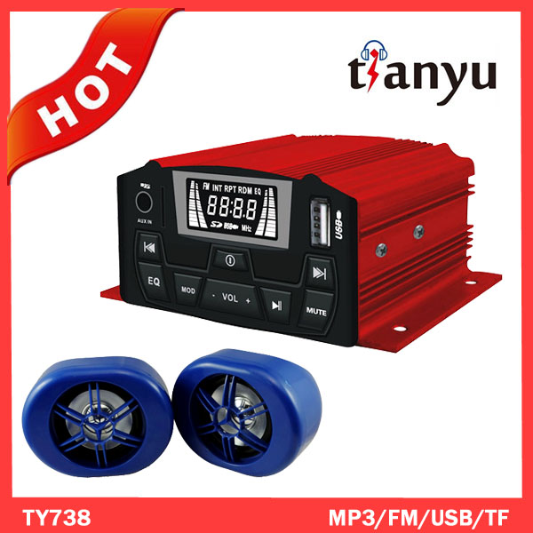 motorcycle alarm double high loudspeaker with radio(FM)
