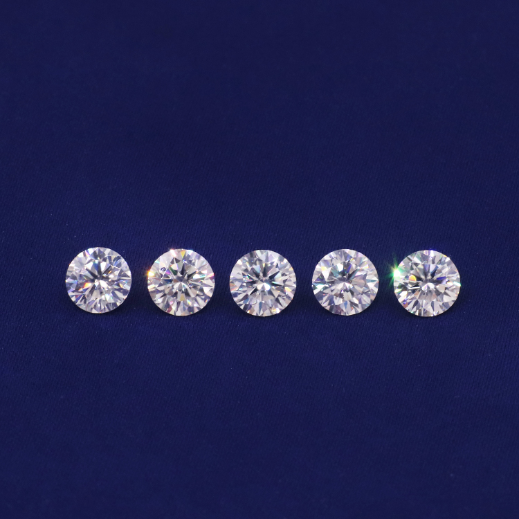 Tianyu gems factory directly sale DEF GH VS Si Lab grown round white diamond cut HPHT synthetic diamond