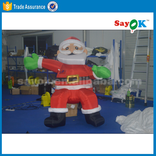 Ft christmas inflatable santa western